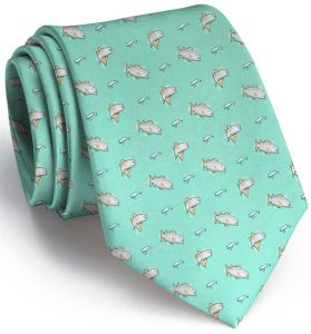Hook - Line & Stripers: Tie - Mint