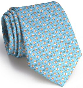 Flower Power: Tie - Turquoise