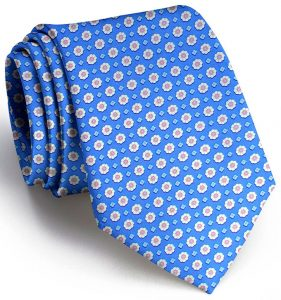 Flower Power: Tie - Blue
