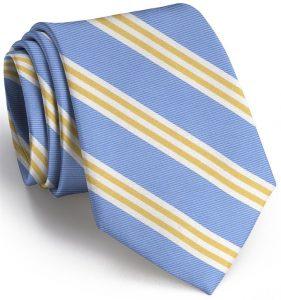 On Air Stripe: Tie - Blue/ Yellow
