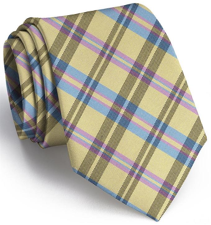 Paddock Plaid: Tie - Yellow