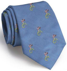 Mermaid English Woven Pedigree: Tie - Blue