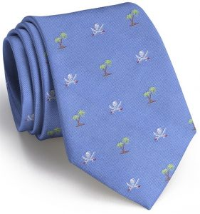 Jolly Roger English Woven Pedigree: Tie - Blue