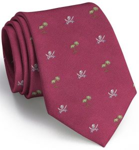 Jolly Roger English Woven Pedigree: Tie - Fuchsia