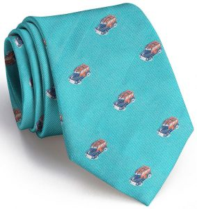 Woody English Woven Pedigree: Tie - Turquoise