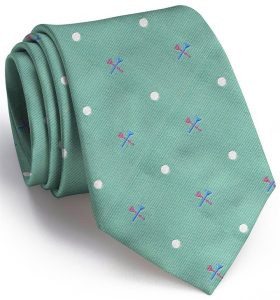 Tee Time English Woven Pedigree: Tie - Mint