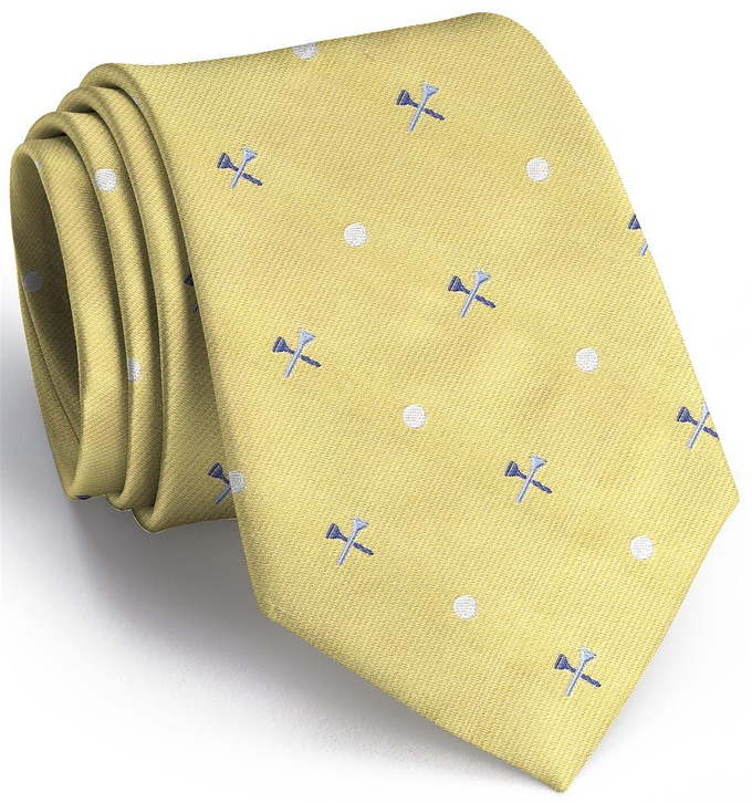 Tee Time English Woven Pedigree: Tie - Yellow