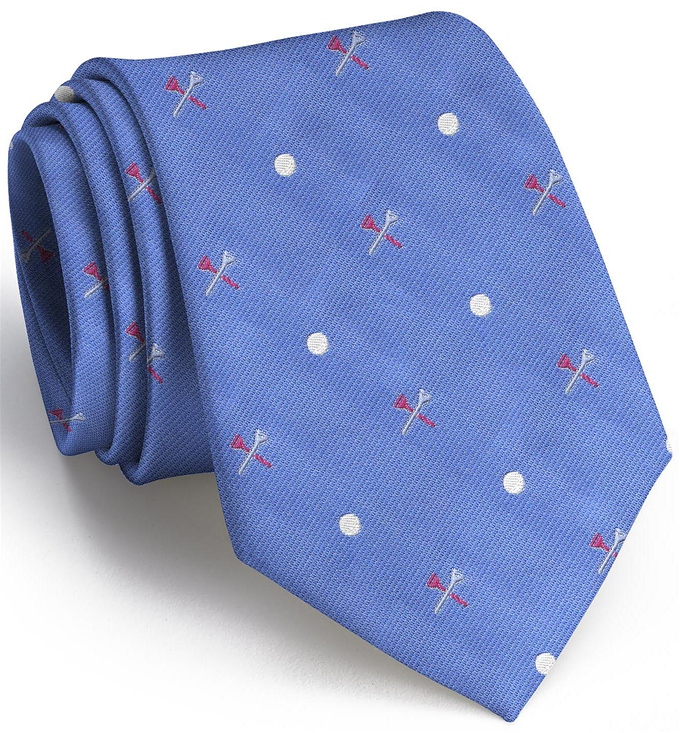 Tee Time English Woven Pedigree: Tie - Blue