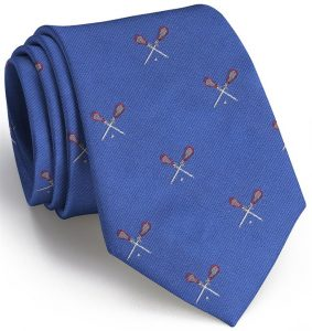 Lacrosse English Woven Pedigree: Tie - Blue