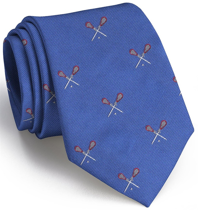 Lacrosse English Woven Pedigree: Tie - Blue