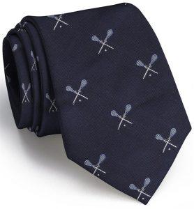 Lacrosse English Woven Pedigree: Tie - Navy