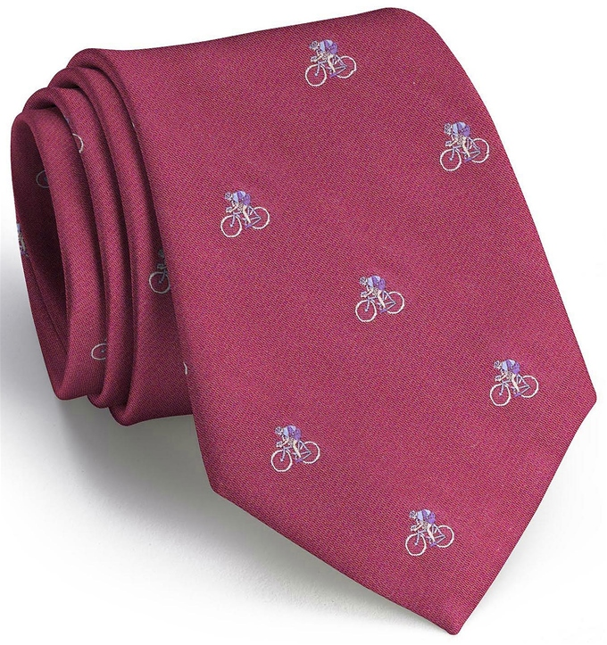 Cyclist English Woven Pedigree: Tie - Fuchsia