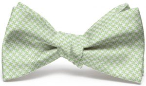 Houndstooth: Bow - Light Green
