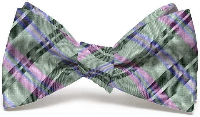 Paddock Plaid: Bow - Lime