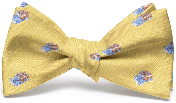 Woody English Woven Pedigree: Bow - Yellow