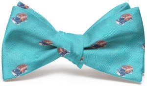 Woody English Woven Pedigree: Bow - Turquoise