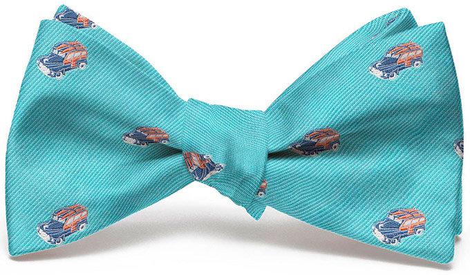 Woody English Woven Pedigree: Bow - Turquoise