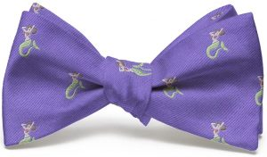 Mermaid English Woven Pedigree: Bow - Violet