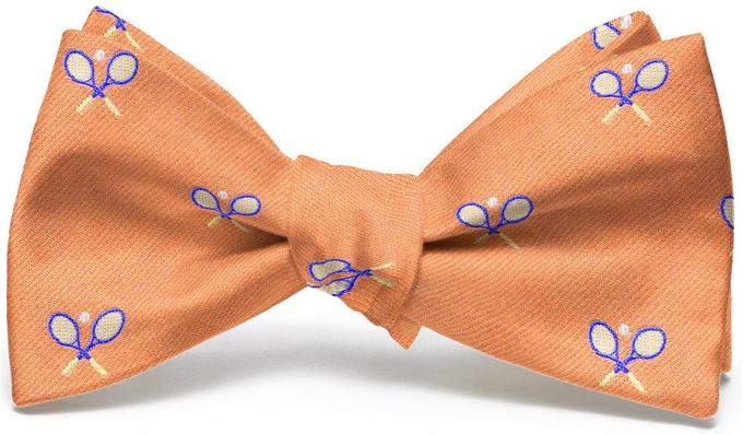 Tennis Racket English Woven Pedigree: Bow - Orange