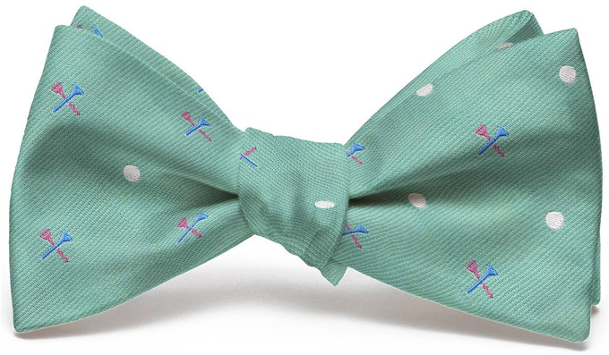 Tee Time English Woven Pedigree: Bow - Mint