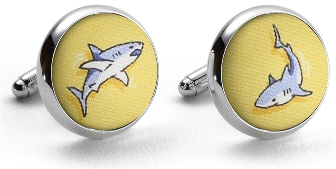 Shark Week: Cufflinks - Yellow