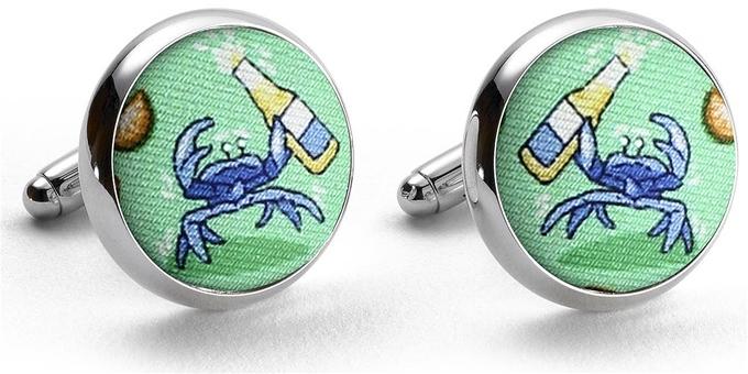 Drunken Crab: Cufflinks - Mint