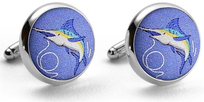 Marlin Madness: Cufflinks - Blue