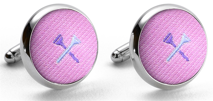 Pedigree Tee Time: Cufflinks - Pink
