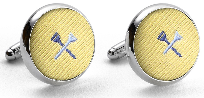 Pedigree Tee Time: Cufflinks - Yellow
