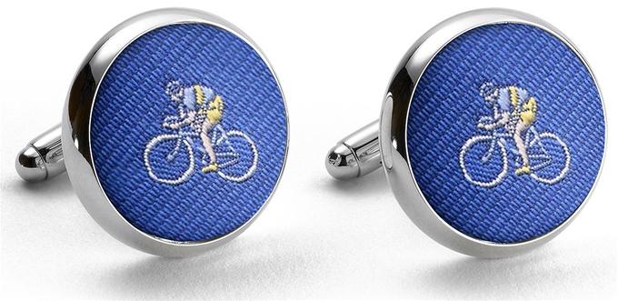 Pedigree Cyclist: Cufflinks - Blue