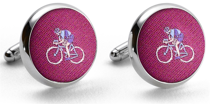 Pedigree Cyclist: Cufflinks - Fuchsia