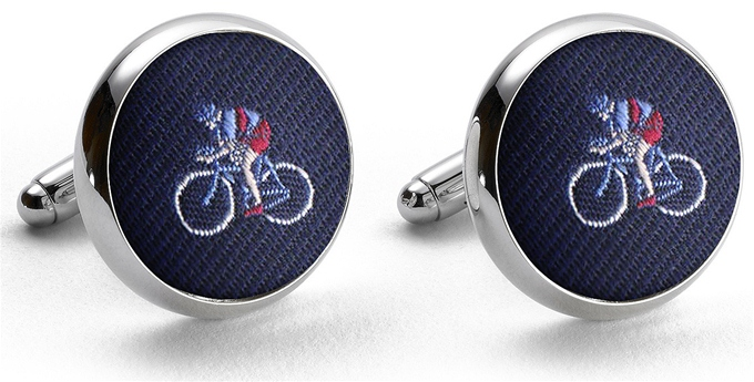 Pedigree Cyclist: Cufflinks - Navy