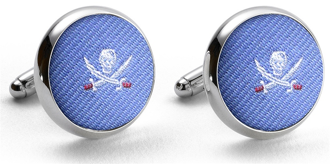 Pedigree Jolly Roger: Cufflinks - Blue