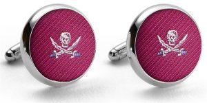Pedigree Jolly Roger: Cufflinks - Fuchsia
