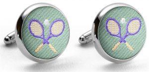 Pedigree Tennis Racket: Cufflinks - Mint