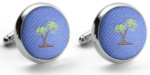 Pedigree Palm Trees: Cufflinks - Blue