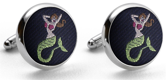 Pedigree Mermaid: Cufflinks - Navy