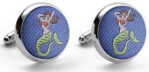 Pedigree Mermaid: Cufflinks - Blue