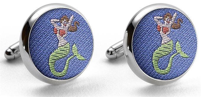Pedigree Mermaid: Cufflinks - Blue