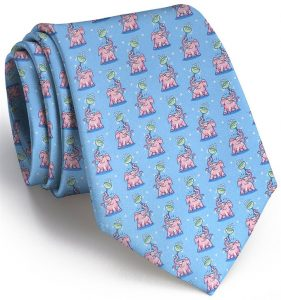 Pink Elephant: Tie - Light Blue