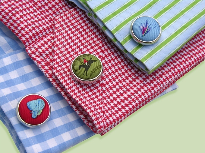 Three French Hens: Cufflinks - Red
