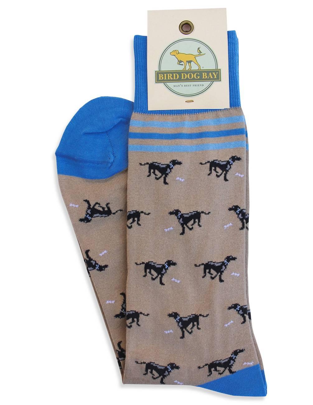 Lucky Labs Socks Tan Bird Dog Baybird Dog Bay
