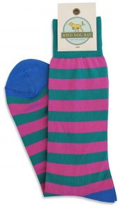 Last Call Stripe: Socks - Purple