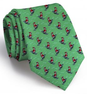 Black Diamond Penguin: Tie - Green