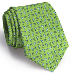 Gone Fishin': Tie - Lime