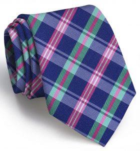 Paddock Plaid: Tie - Mid-Blue