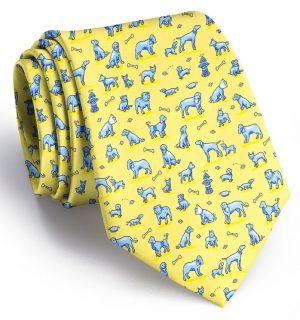 Dog Park: Extra Long Tie - Yellow