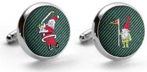 Pedigree Swingin' Santa: Cufflinks - Green