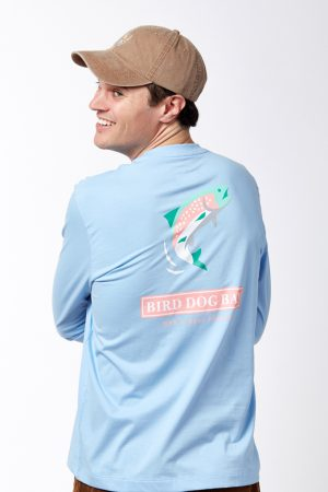 Jumping Trout Long Sleeve - Blue