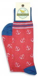 Anchors Aweigh: Socks - Coral